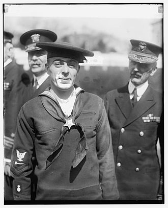 Henry Breault - Henry Breault just after receiving his Medal of Honor, 8 March 1924