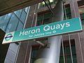 Heron Quays DLR stn signage.JPG