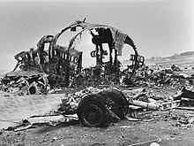 Wreckage of Tenerife airport disaster