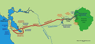 Tuolumne River - The Hetch Hetchy Project provides Tuolumne water to the city of San Francisco.