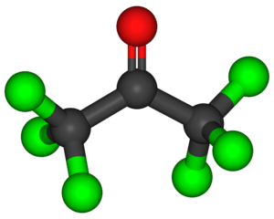 Hexachloroacetone - Image: Hexachloroacetone 3D balls