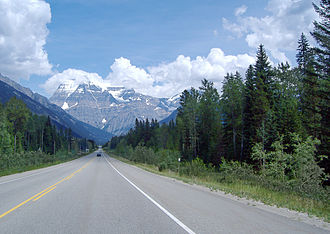 British Columbia Highway 16 - Passing through Mt. Robson Provincial Park.