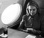 Hillary Rodham Clinton on plane using Game Boy (07).jpg