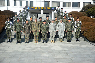 Republic of Korea Army Special Warfare Command - US military personnel visiting Special Warfare Command.