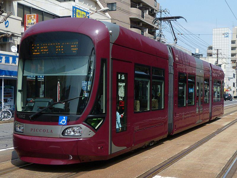 Tram in servizio ad Hiroshima