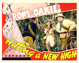 John Howard (American actor) - Lobby card for Hitting a New High (1937)