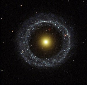 Ring galaxy - Hoag's Object, a ring galaxy. Another red ring galaxy can be seen behind it.