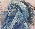 Hollow Horn Bear art detail, from- US Military Payment Certificate 10 Dollars MPC Series 692 (cropped).jpg