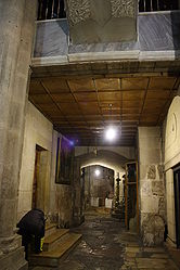 Holy Sepulchre hallway outside Chapel of Derision.jpg
