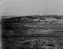 Honolulu, circa 1860–1861. Looking toward Kawaiahao Church from Punchbowl area (2).jpg