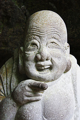 Hotei, god of happiness at Jōchi-ji temple