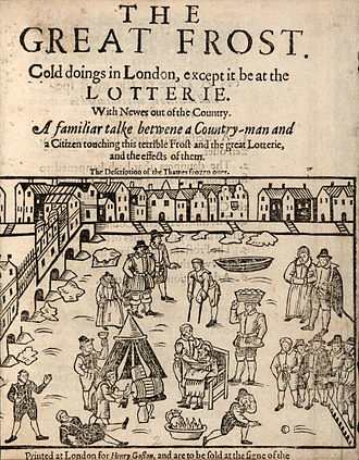 River Thames frost fairs - An account of the Frost Fair of 1608, believed to be the first