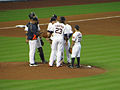 Houston Astros mound conference 2013.jpg