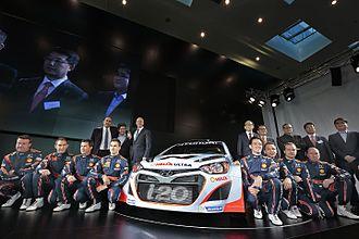 Hyundai Motorsport - Image: Hyundai i 20 WRC 2013 Car Launch 002