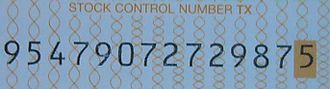Airline codes - IATA Flight coupon stock control number