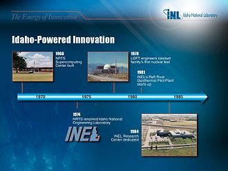 Idaho National Laboratory - timeline continued.