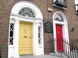 Institute of Education (Dublin) - Number 85 Lower Leeson. The famous yellow door