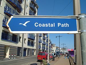 Isle of Wight Coastal Path - One of the newer signs for the Coast Path