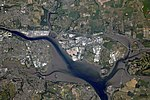 ISS-56 Cork, Ireland with the River Lee and surrounding areas.jpg