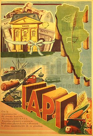 Five-Year Plans of Argentina - Propaganda of the First Five-Year Plan promoting the IAPI.