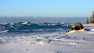 Ice dune - Ice Dunes at Presque Isle State Park on Lake Erie