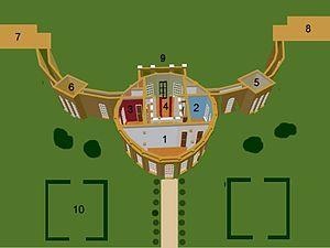 Ickworth House - Image: Ickworthnumbered