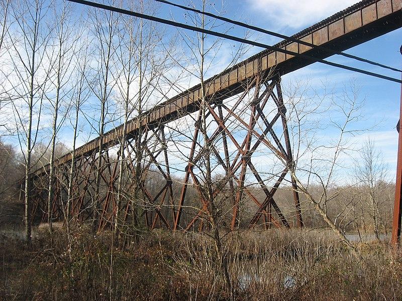 File:Illinois Central trestle over Shuffle Creek Road.jpg