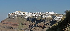 Imerovigli - Imerovigli seen from Fira