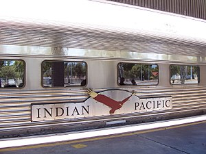 Indian Pacific - Image: Indian Pacific on the platform at East Perth