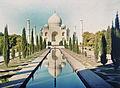 Indien, Uttar Pradesh, Agra. Mausoleum Taj Mahal von Shah Jahan fuer Mumtaz Mahal.jpg