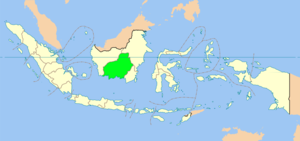 Location of Central Kalimantan in Indonesia