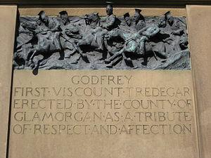 Godfrey Morgan, 1st Viscount Tredegar - Inscription to Godfrey Morgan, the 1st Viscount Tredegar