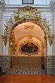 Institut Lluís Vives de València, arc d'entrada a la capella de la Comunió o fonda.JPG