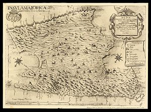 Majorca - 1683 map of Mallorca, by Vicente Mut.