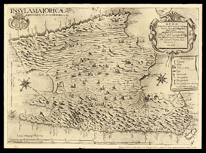 1683 map of Mallorca