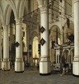 Interior of Nieuwe Kerk, Delft (Hendrick Cornelisz van Vliet) - Nationalmuseum - 17686.tif