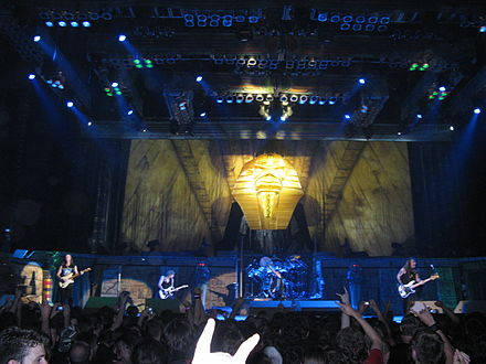 Iron Maiden in Paris, 1 July 2008.