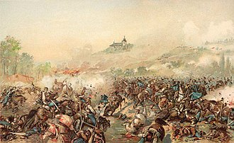 Battle of Isaszeg (1849) - Cavalry fight at the battle of Isaszeg 6 April 1849