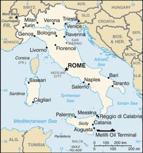Mapa da It�lia