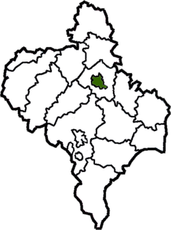 Location of Ivano-Frankivsk in  Ivano-Frankivsk Oblast