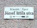 József Attila utca, névtábla, 2019 Újpest.jpg