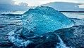 Jökulsárlón ice beach sunset (16283774487).jpg
