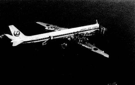 墜落した機体