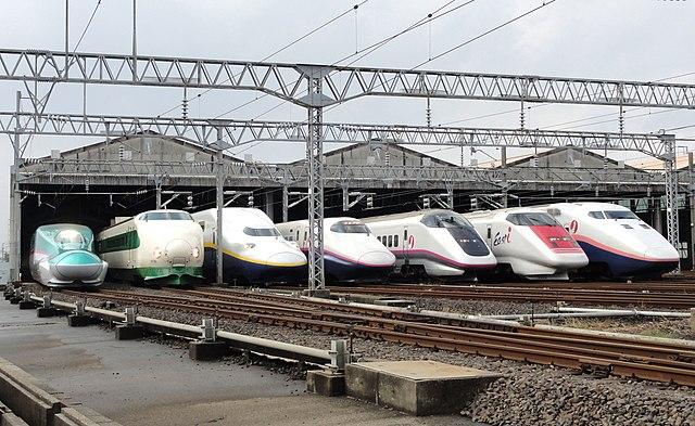 JR East Shinkansen Lineup at Niigata.