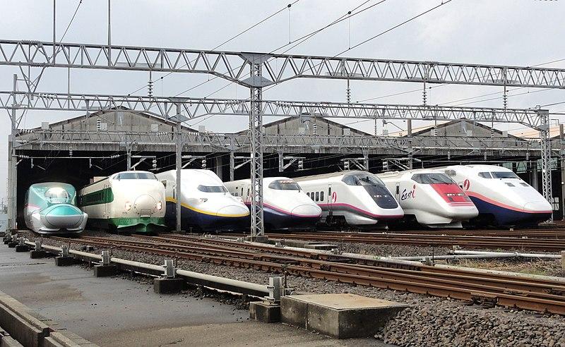 800px-JR_East_Shinkansen_lineup_at_Niigata_Depot_201210.jpg