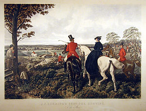 William Taylor Copeland - J F Herrings Hunt. First part of a series of paintings commissioned by W.T Copeland