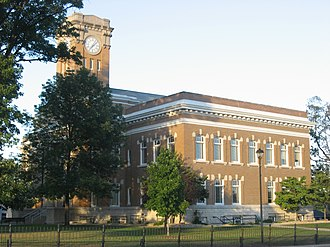 Jackson County, Indiana - Image: Jackson County Courthouse in Brownstown, southern side and front