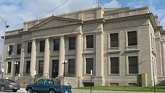 Jackson County, Illinois - Image: Jackson County Courthouse in Murphysboro from west