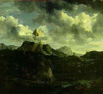 Mountain Landscape with a Watermill - Image: Jacob van Ruisdael Mountain Landscape Michaelis collection
