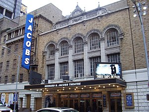 Bernard B. Jacobs Theatre - The Bernard B. Jacobs Theatre, showing Three Days of Rain, 2006